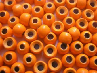 100 Billes tungstène orange fluo